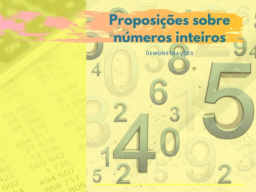 Proposições sobre números inteiros