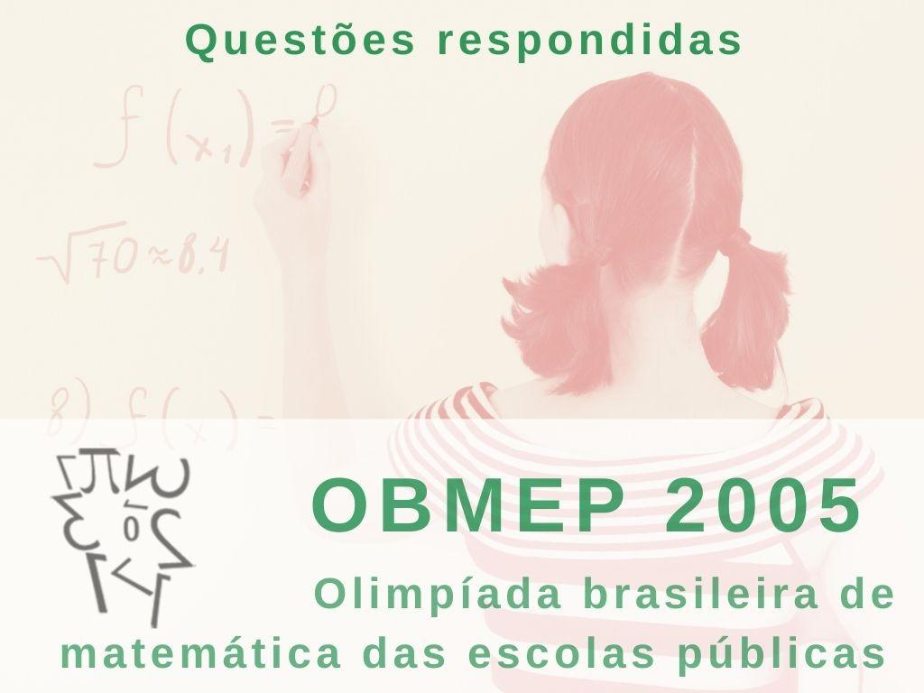 prova OBMEP 2005 nível I